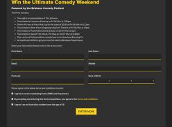 Win the Ultimate Comedy Weekend