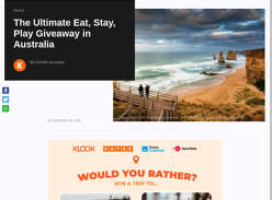 Win the ultimate Eat, Stay, Play getaway!