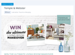 Win the ultimate living room makeover valued at $18,000!