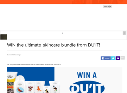 Win the ultimate skincare bundle from DU'IT