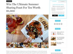 Win the ultimate summer sharing feast worth $1,000!