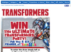 Win the ultimate Transformers party!