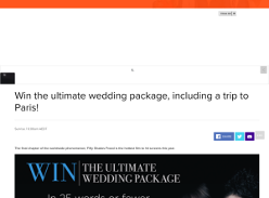 Win the ultimate wedding package, including a trip to Paris