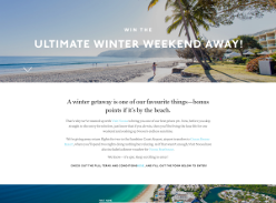 Win the ultimate winter weekend away! (Sydney, Brisbane & Melbourne Residents ONLY)