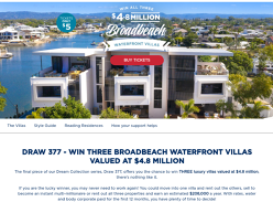 Win Three Broadbeach Waterfront Villas Valued At $4.8 Million