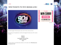 Win tickets to 90's Mania Live!