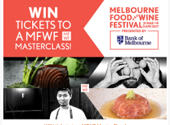 Win tickets to a MFWF Masterclass! (Flights & Accommodation NOT Included)