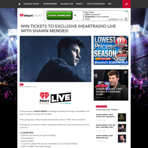 Iheart radio win tickets to exclusive iheart radio live with shawn win tickets to exclusive iheart radio live with shawn mendes m4hsunfo