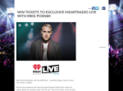 Win tickets to 'iHeartRadio' LIVE with Mike Posner in Sydney!