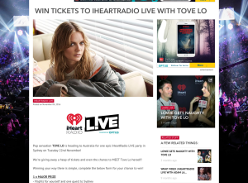 Win tickets to iHeartRadio LIVE with Tove Lo!