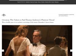 Win Tickets to Paul Thomas Anderson's Phantom Thread