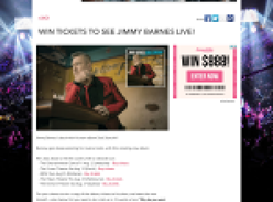 Win tickets to see Jimmy Barnes live!