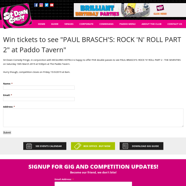 Win tickets to see Paul Brasch