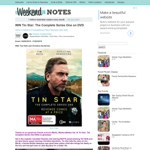 Win Tin Star: The Complete Series One on DVD
