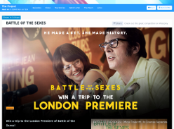 Win Trip to London, Battle of the Sexes