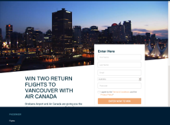 Win two return flights to Vancouver