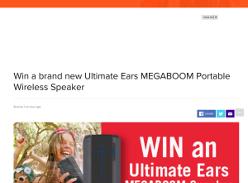 Win ultimate ears megaboom speaker