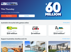 Win up to $60,000,000