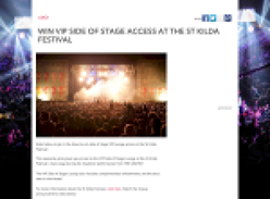 Win VIP side of stage access at the St Kilda Festival!