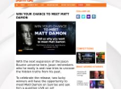 Win your chance to meet Matt Damon!
