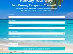 Win Your Choice of Holiday (Bali/Fiji/Hawaii/Pacific Island Cruise) for 2