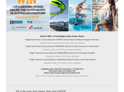 Win Your Choice of South Pacific or Tasmania Cruise for 2
