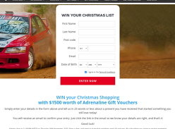 WIN your Christmas Shopping with $1500 worth of Adrenaline Gift Vouchers