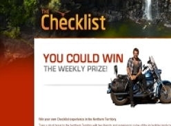 Win your own Checklist experience in the Northern Territory with 2 friends