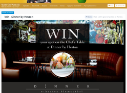 Win your spot on the Chef's Table at Dinner by Heston