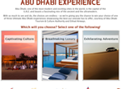 Win your ultimate Abu Dhabi experience!