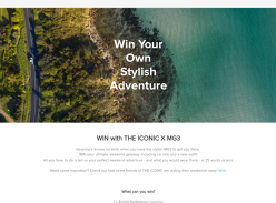 Win your ultimate weekend getaway with MG3!