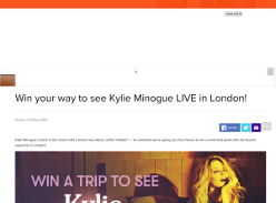 Win your way to see Kylie Minogue Live in London