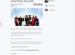 Win your way to the APIA Good Times Tour 2020!