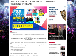 Win your way to the IHEARTSUMMER '17 weekend in Miami! (NSW, VIC, QLD & WA Residents ONLY)