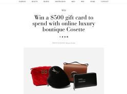 Wina $500 Online Shopping Voucher